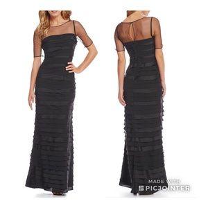 🔥NWT ADRIANNA PAPELL Silk Illusion Bateau  Dress